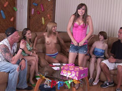 Chastity Lynn plays sex dice with friends