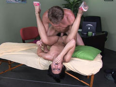 Jayden fucks with massage oil