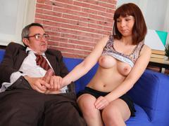 Elena struggles for her grades in her teachers class and wants to fuck him for a better grade today.