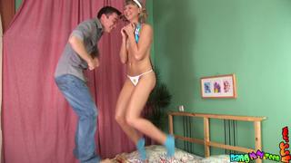 Playful teens have fun