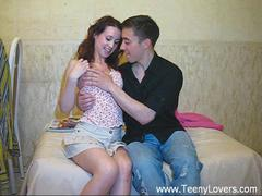 shaved teen couple fucked