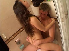 wet teen slut blows cock