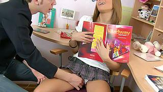 Little slut fucked by her tutor