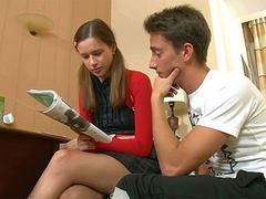 Hot teen fucked by her tutor