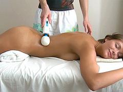 Teen drilled on the massage table