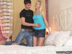 shaved blonde teen getting penetrated